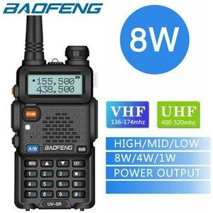 워키 토키 Baofeng UV-5R 8W Taklie Transceiver Radio Tri-Power 1800mAh 두꺼운 2000mAh 확장 3800mAh 듀얼 밴드 8W / 4W / 1W 양방향 햄