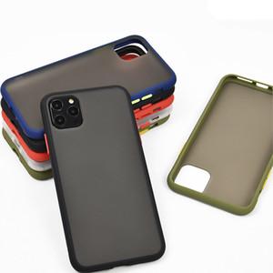 Mint Простой матовый бампер чехол для телефона Iphone 12 11 Pro XS Max SE 8 7 Plus Ударопрочный Мягкий ТПУ силиконовый Прозрачная крышка