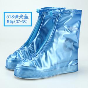 Waterproof Protector Shoes Boot Cover Unisex Zipper Rain Shoe Covers High-Top Anti-Slip Rain Shoes Cases DHL free GWD4196