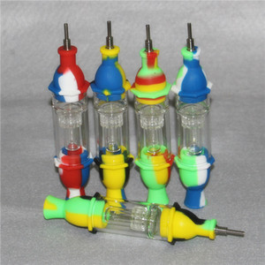 wholesale Silicone Nectar Collector Kit With GR2 10mm Titanium Tips Silicone Nector Collector Kit Mini NC Dab Tool