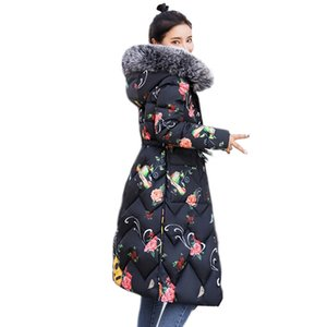 Both Sides Can Be Worn 2019 Jacket For Women Large Female New Hooded Fur Collar Long Down Coat Plus Size Parka