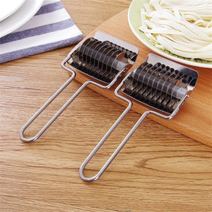 Stainless Steel Noodle Lattice Roller Shallot Cutter Pasta Spaghetti Maker Machines Manual Dough Press Cooking Tools OOA7335
