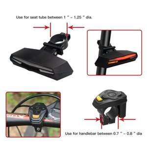 Wireless Bicycle Rear Light laser tail lamp Smart USB Rechargeable Cycling Accessories Remote Turn led Bike light Warning