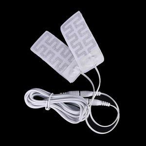 1 Pair 3.7V-5V USB Heated Gloves Pad Calefaccion Guantes Electric USB Gloves Heater Heated Carbon Fiber Cloth 5*9CM