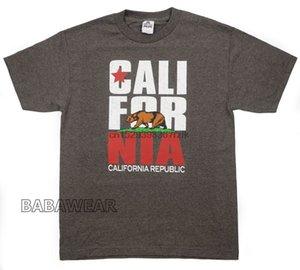 California Republic T-Shirt Heather Brown Bear Stern CALI Red BABA Sport Hoodys Hoodie