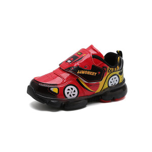 children davidyue led for boys girls leather car luminous kids sport shoes glowing lighted baby sneakers