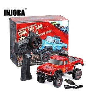 Injora 2,4g 1:18 Maßstab RTR RC Rock Crawler Auto Off Road Klettern RC Fahrzeug Truck Fernbedienung Pickup RC Auto Spielzeug 201223