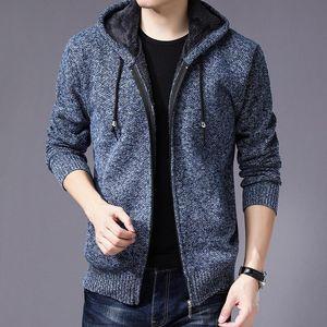 brand SweaterCoat Faux Fur Wool Sweater Men Casual Sweater Coat Tops Jacket Zipper Men Autumn Winter Hoody Sweatercoats