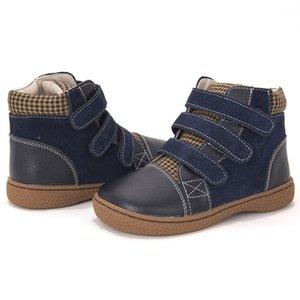 Pekny bosa filles printemps automne martin bottes cuir enfants chaussures orthopédiques petites enfants bottines pour garçons taille 25-35 lj201027