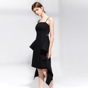 2020 summer new fashion European and American style women's elegant sexy suspender waist tight-fitting slim banquet dress dress evening dres