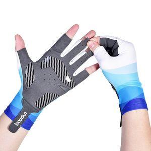 1 Pair Half-finger Fishing Gloves Men Women Outdoor Anti-slip Fish Angling Gloves Catching Shockproof Sportswear Fish Equipment 201020