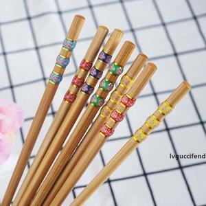 Natural Bamboo Chopsticks Chinese Saudável reutilizável Chopsticks Ferramenta Kitchen Sushi Food vara Louça Sushi Chopstick CT0274