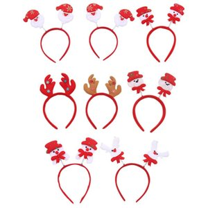 8pcs Festival Headwear Santa Claus Hairband Christmas Styled Headdress Xmas Hair Hoop for Party Christmas Cosplay Festival
