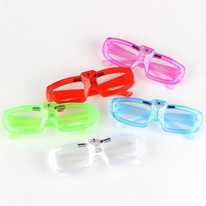 Led Cold Light Glasses Glowing Flash Party 2020 new Christmas up Shades Rave Luminous Glass DJ Decor New Year Props