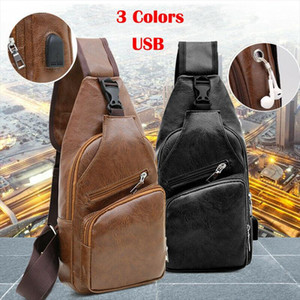 2019 Newest Hot Mens PU Leather Solid Sling Pack Chest Shoulder Crossbody Bag Biker Satchel Dropshipping Waist Packs