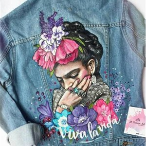 Neue Mode Print Denim Jacke für Herbst / Winter 2020