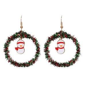 hot Ladies Christmas decoration Earrings Santa Claus Snowman Christmas tree elk Earrings ornaments Christmas Earrings party gifts T500453
