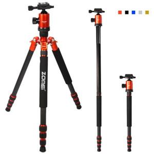 cabeça de fibra de carbono Professional Viagem Tripé Camera Tripod Kit Monopod bola com caso Zomei Z888C