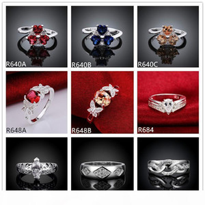 J 10 Pieces Mixed Style Women &#039 ;S Gemstone Sterling Silver Ring ,High Grade Burst Models Fashion 925 Silver Ring Gtr45 Online For
