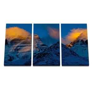 Posters and Prints Painting Art Wall Pictures for Living Room Home Decoration Snow Mountain Top