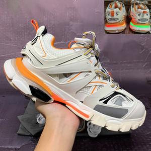 parís pista 2021 de calidad superior 3.0 zapatos casuales dirigidos hombres mujeres negro naranja blanco gris rosa zapatillas de deporte para hombre de EE.UU. 5,5-11