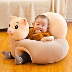 Hot Sale Cute cartoon infant learn sit chairs animal modeling children sofa educational mother and baby products baby plush toys
