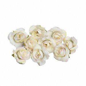 50PCS Mini Falso Rose portatile Craft riutilizzabili fiore artificiale panno testa realistica sposa fai da te decorazione domestica floreale Wedding Decoration r1ui #