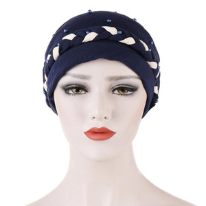 Hair Accessories For The New Twin Twist Braid Turban Tjm Arab Muslim Nail Bead Baotou Cap