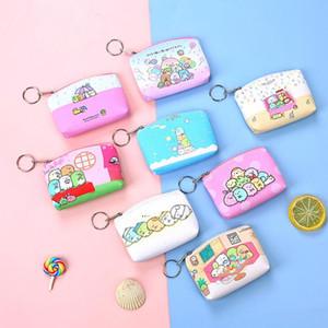 Cartoon mignon sac casque portable clé mode pu les enfants de la bourse de monnaie mini-argent frais portefeuilles portefeuille fille petits sacs de rangement