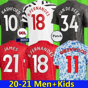 20 21 Cavani Fernandes Soccer Jersey 2021 United Men Football Rashford Camiseta De Futbol سباق بشري مانشستر UTD Wan Bissaka Van De Beek