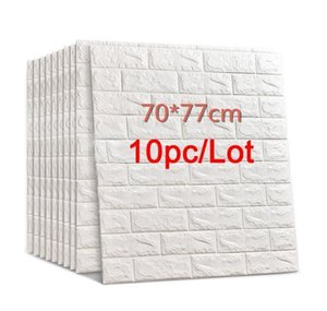 70*77 3d Brick Wall Stickers Diy Self Adhensive Decor Foam Waterproof Wall Covering Wallpaper For Tv Background Kids Living Room bbyCbEj