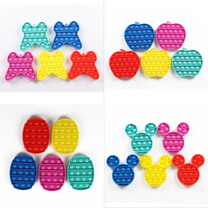 Butterfly Bubble Push Fidget Giocattoli sensoriali Pop It Autism Autism Needs Special Stress Reliever Stress Aument Focus Toy Toy Squeeze morbido per bambini G11801