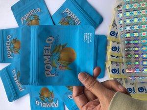 가방 Pomelo 로컬 라벨 홀로그램 약용 가방 Mylar Bdebaby esibles 및 스티커 블루 BBYQV 냄새 증거 3.5g 쿠키 LDSLQ