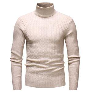 Autunno Inverno Turtelneck maglione dell'annata degli uomini in maglia Pullover Maglione comodo uomini casuale sottile maschio lavorato a maglia Top