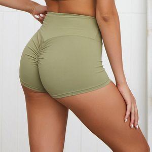 Seamless Yoga Shorts Women High Waist Workout Shorts Plus Size Tummy Control Fold design Sport Shorts For Women Gym Leggings
