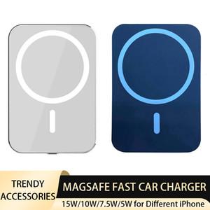 Magsafe 자동차 퀵 충전기 iPhone 12 / Pro 12 미니 12 Pro max 소매 상자 무선 빠른 충전 자동차 홀더 15W 10W 7.5W 5W 검정 흰색