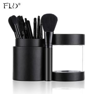 FLD 12PCS / комплект щетки порошок тени для век Контур губ Профессиональный набор кистей для макияжа 201009