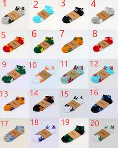 Natal meias plantlife para homens mulheres meias de algodão de alta qualidade skate folha de desporto hiphop bordo meias curtas wholesa
