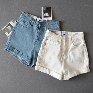 Obrix luz denim fêmea shorts esportivo desportivo hight cintura casual estilo de verão shorts para mulheres1