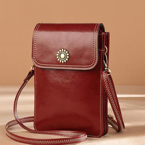 Design mobile phone bag 2020 ladies classic fashion red leather mini bag ladies casual one-shoulder diagonal coin purse gift 138