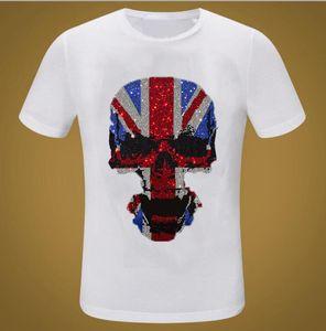 Ganbu Marca Streetwear Diamonds Summer Hip Hop T-Shirt Hombres Moda Casual Negro Camisetas Tops Tops 3TQI