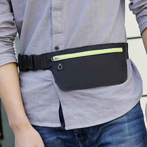 Men Oxford Sports Small Fanny Pack Night Reflective Light Belt Bags Female Banana Bum Bag Women Running Mini Waist Bag G130