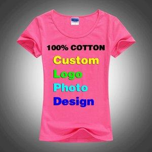 Slim Sexy Custom Photo Text Printed Female Women T Shirt Summer Cool Basic Lady T shirts Tops Short Sleeve Tees Femme Shirt