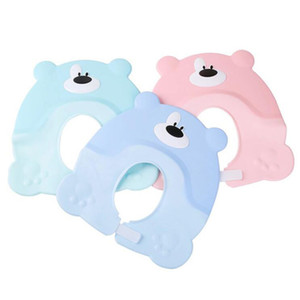 Best Sale Korean Version Cute Baby Hat Toddler Kids Shampoo Bathing Shower Cap Wash Hair Visor Caps For Baby Care Douchekap 201019