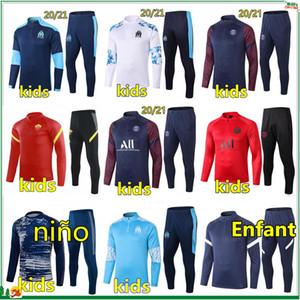 20 21 kids football training suit soccer tracksuit 2020 2021 kids football tracksuit survetement chandal jogging