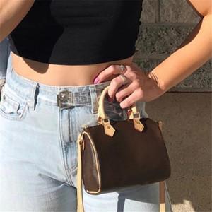 Bolso de la almohadilla de moda vendedor caliente de las señoras del diseño de lujo del bolso Speedy Nano preciosas niñas mini bolsa de mensajero de las mujeres