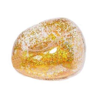 Fabuloso cubierta inflable Concisa dormitorio sofá transparente asiento brillante de lentejuelas de oro púrpura Decoración Fútbol Niños wmtDep regalo