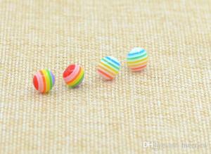 Brincos para mulheres belas jóias jóias personalidade criativa brinco plástico arco-íris brincos para mulheres brincos de garanhão