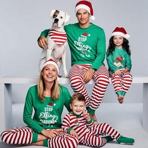 2020 Nova Natal Pais e das Crianças Set impressos domésticos roupa tecido macio Babies Pijama pai-filho Wear Início