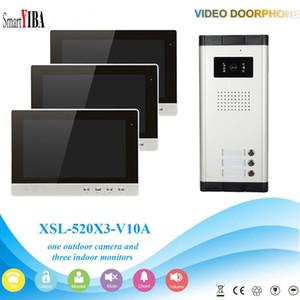"""SmartYIBA Wired New 10"""" TFT LCD de telefone video da porta sistema de intercomunicação com 1 Night Vision campainha Câmera + 3 monitores"""